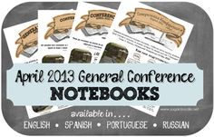 April 2013 General Conference Packet in English, Spanish, Portuguese and Russian.