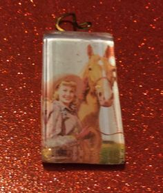 Western Cowgirl and Palomino Horse Domino Glass Tile   Stacie by vowangems. Explore more products on http://vowangems.etsy.com