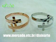 Braceletes Crucifixo  www.mercado.etc.br/dixiearte