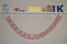 Bachelorette Party banner  Cheers Bitches  Pink by JKreations2013, $18.50