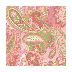 Pink Paisley Fabric Sold by the Yard by Carousel Designs.