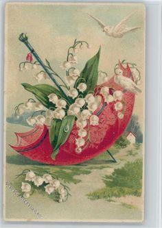 im Regenschirm, weiße Tauben: Ansichtskarten-Center Onlineshop