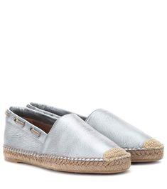 BRUNELLO CUCINELLI   Metallic leather espadrilles #Shoes #Espadrilles #BRUNELLO CUCINELLI