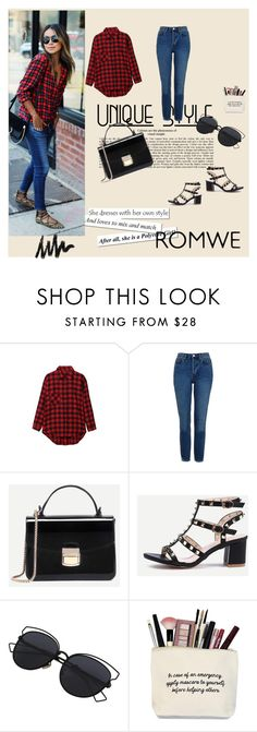 """""""Romwe 4/VII"""" by nermina-okanovic ❤ liked on Polyvore featuring AG Adriano Goldschmied, Topshop and romwe"""