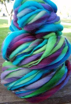 Jewel colours handspun