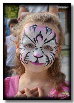 tigre blanc et rose by l'Ô colorée
