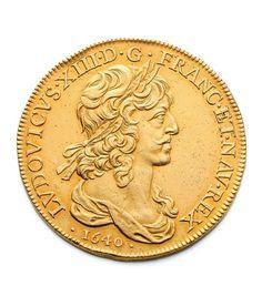 Jean Warin (1607-1672), Paris, 1640, 10 louis d'or au buste drapé, 67,55 g. Frais compris : 298 750 €. Vendredi 21 novembre, salle 11 - Drouot-Richelieu. Rieunier - de Muizon SVV. M. Parsy.