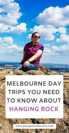 When it comes to Melbourne day trips that you need to know about, Hanging Rock is right up there. It is a local secret just an hour from Melbourne and a rare geological site too! Let's start exploring! Australia Travel Guide, Visit Australia, Melbourne Travel, Travel Guides, Travel Tips, Travel Destinations, New Zealand Travel, Travel Information, Travel Couple