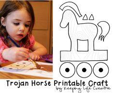 Crafts for Kids | FREE Trojan Horse Printable Craft