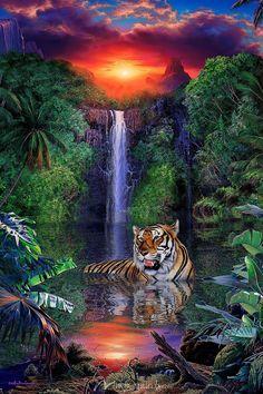 Tiger Falls - Christian Riese Lassen - Artist