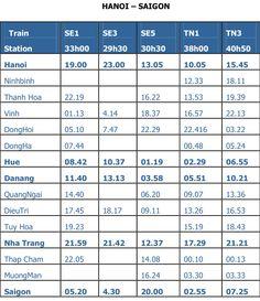 Fahrplan Zug Vietnam