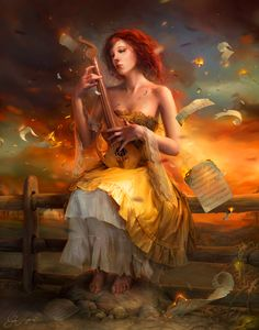 Image from fantasy and syfy..with some cats..NSFW — finest-cg-art:   Half Her Heart's Duet by...