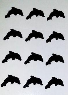 Tropical Dolphin Vinyl Nail Decal Nail Art Nail Decor Nail Bling Pedicure Manicure by SharisVinylEmporium on Etsy