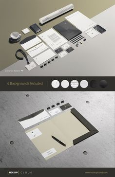 Business Stationery / Mock-Up by Mockup Cloud on Creative Market