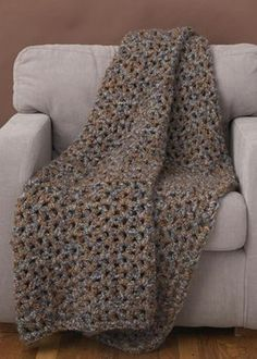 Crochet 5 1 2 Hour Throw Pattern - Lion Brand Yarn