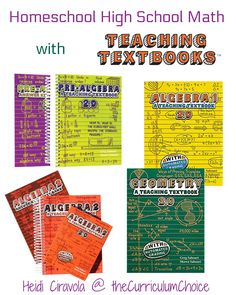 Teaching Textbooks is a great choice for homeschool high school math touting computer based lessons and automated grading it is an easy to implement option! High School Curriculum, Homeschool Curriculum Reviews, Homeschool Math, Homeschooling Resources, Math Resources, Teaching Textbooks, Teaching Math, High School Years, History Education