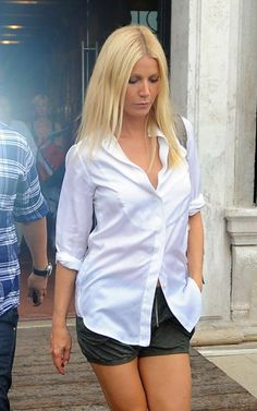 Gwyneth Paltrow:Style:Button Down Shirt