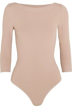 Sand stretch-knit Snap fastenings at base 83% viscose, 17% polyester Dry clean Made in Italy