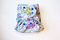 Elephant Cloth Diaper Purple Cloth diaper by LittleBumblebeeShop, $23.00