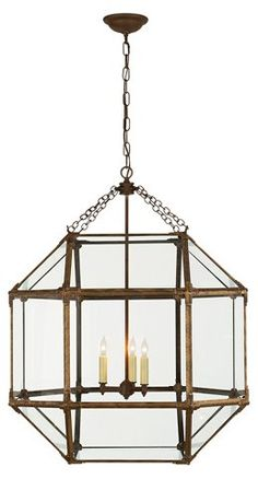 Morris Lantern, Antiqued Gold/Clear - Shop By Price - Lighting - Category Landing Page | One Kings Lane