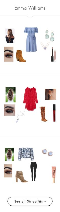 """""""Emma Williams"""" by hlostgirl ❤ liked on Polyvore featuring Miss Selfridge, BaubleBar, Burberry, rag & bone, ADAM, Smashbox, See by Chloé, Topshop, Too Faced Cosmetics and Donald J Pliner"""