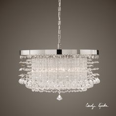 Available to order from Collaborative Design  Uttermost Fascination 3 Light Crystal Chandelier