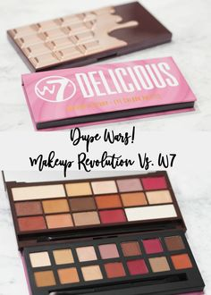 DUPE WARS! Comparison of the Makeup Revolution Chocolate Elixir Palette Vs. the W7 Delicious Palette. Which is the best palette, and best dupe for the Anastasia Beverly Hills Modern Renaissance Palette?