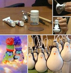 How to DIY Light Bulb Ornament – Penguin tutorial and instruction. Follow us: www.facebook.com/fabartdiy