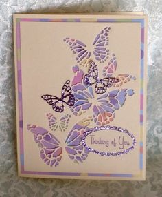 I love this Reverse Butterfly Collage die by Memory Box!