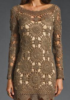 Katia Ribeiro Acessórios: Blusa / Vestido em crochê com passo a passo e gráfico