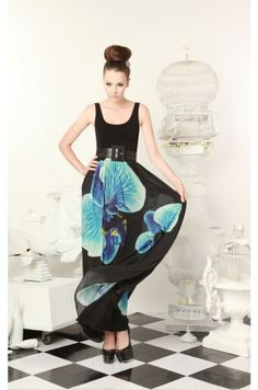 Gabriella Printed Long Dress  $396.00