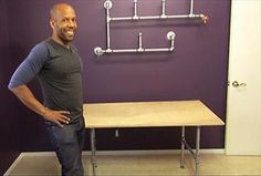 Use Kenneth Wingard's step-by-step guide to turn piping into a creative desk.