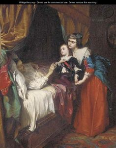 The Final Hour, oil on canvas by Alfred Elmore, 1815-1881, Victorian history and genre painter,. Elmore was born in Cork, Ireland, and commissioned by Daniel O'Connell to paint the Martyrdom of Thomas a Becket for the Westland Row Church, Dublin. He feeds the Victorian fascination with death and dying in this deathbed scene.