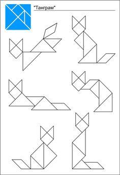 Схемы игры танграм Geometric Pattern Design, Geometric Shapes, Nursery Rhymes Lyrics, Tangram Puzzles, Wooden Puzzles, Shapes Worksheets, Fun Math, Maths, Learning Through Play