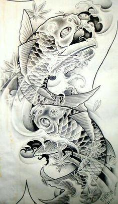 Koi Dragon Tattoo, Pez Koi Tattoo, Koi Tattoo Sleeve, Carp Tattoo, Lotus Tattoo, Tatto Koi, Dragon Koi Tattoo Design, Japanese Koi Fish Tattoo, Koi Fish Drawing