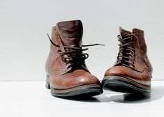 Men's Leather Oxford Boots  1940s 1950s   by SucreSucreVintage, $99.00