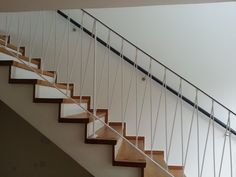 is this metal style an option? Entry Stairs, Entry Hallway, Basement Stairs, Foyer, Stair Railing Design, Balcony Railing, Bauhaus Interior, Beautiful Stairs, Stair Detail