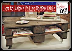 How to Make a Pallet Coffee Table - this has become super popular on Pinterest!