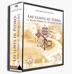 http://www.romereports.com/shopdvd/product_info.php?cPath=26_id=96=es#.UQlULr_K7dI LAS LLAVES DE PEDRO El 1 de mayo de 2011 por primera vez un Papa beatificó a su predecesor: JPII. Apenas seis años después de su muerte BXVI lo elevó a los altares. Hoy, 2 de mayo, BXVI regresará al convento Mater Eclessiae del Vaticano. Una colección que cuenta con tres documentales inéditos que recoge las mejores imágenes de JPII y BXVI. Introduciendo este código: eab2b90c dispondréis de un 20% de descuento.