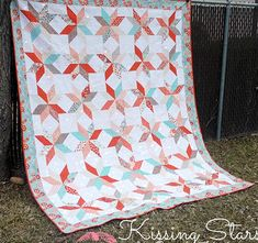 Quilting Land: Kissing Stars Quilt