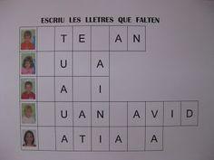 EDUCACIÓ INFANTIL: JUGUEM AMB ELS NOSTRES NOMS