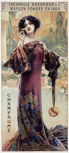 Art Nouveau Beauty by Alphonse Mucha