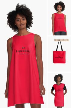 Ready to BE LEGENDARY in Then you'll luuurve our Be Legendary Range. Find Be Legendary Ladies fashion; dresses, t-shirts, blouses, bags and more on RedBubble in our Be Inspired Collection. Ladies Fashion, Womens Fashion, Working People, Sleeveless Shirt, Medium Bags, Mom And Baby, Business Ideas, Are You The One, Trendy Outfits