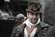 We're back on track guys! Our steampunk pic of the day by Veronique Margaux! Steampunk Clothing, Steampunk Fashion, Back On Track, Guys, Steampunk Outfits, Boyfriends, Steampunk Couture, Boys, Men