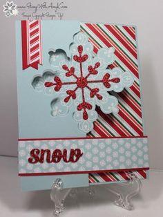 Letterpress Winter Snowflake Flip Card