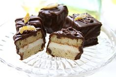Chocolate Glazed Limoncello Ice Cream Petit Fours