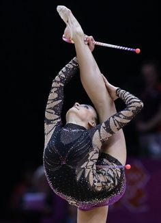 The impossible positions of rhythmic - Rhythmic Gymnastics Slideshows | NBC Olympics