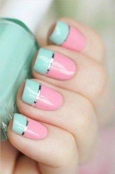 Spring nail colors, so feminine.