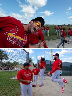 Joe photobombs the time lapse camera at Roger Dean.  Spring training 2014
