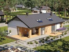 Wizualizacja AC Daniel III G2 CE Diy Table, Wood Table, Future House, Bungalow, House Plans, House Design, Cabin, Gazebo, House Styles